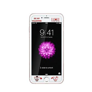 iPhone 6 / 6s 4.7inch karkaistu lasi läpinäkyvä edessä näytön suojakalvon kanssa emboss piirretty kuvio loistaa pimeässä sika