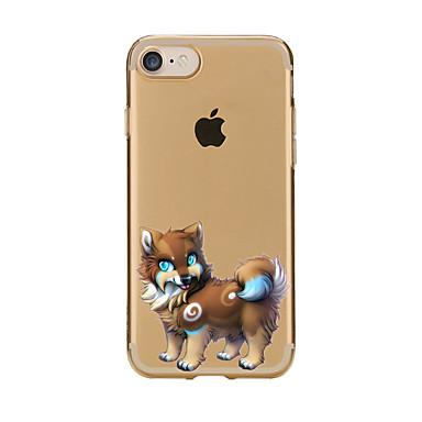 غطاء من أجل iPhone 7 Plus iPhone 7 iPhone 6s Plus أيفون 6بلس iPhone 6s ايفون 6 أيفون 5 أيفون 5C Apple شفاف نموذج غطاء خلفي كلب ناعم TPU