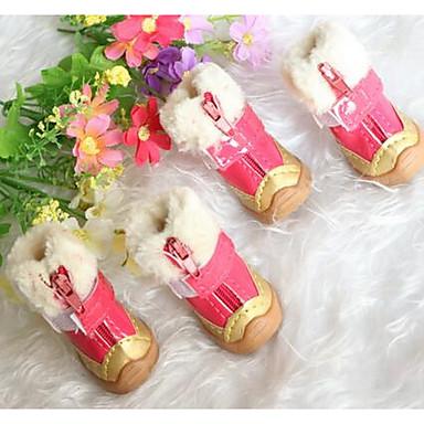 Σκύλος Παπούτσια & Μπότες Χαριτωμένο Μπότες Χιονιού Μονόχρωμο Μπεζ Κίτρινο Κόκκινο Μπλε Για κατοικίδια