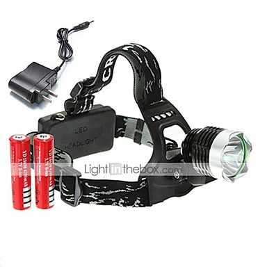 U'King Φακοί Κεφαλιού Μπροστινό φως LED 2000 lm 3 Τρόπος Cree XM-L T6 με μπαταρίες και φορτιστή Μικρό Μέγεθος Εύκολη μεταφορά High Power