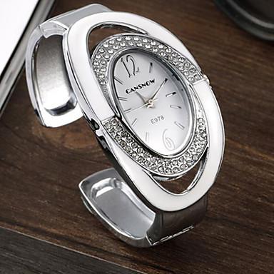Erkek Moda Saat Quartz Alaşım Bant Günlük Gümüş