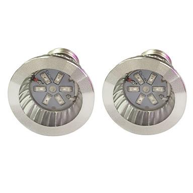 2pcs 3.5W 100 lm E14 GU10 E27 تزايد المصابيح الكهربائية 6 الأضواء SMD 5730 أزرق أحمر أس 85-265V