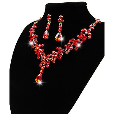 Γυναικεία Σετ Κοσμημάτων Κρεμαστά Κολιέ Κοσμήματα Μοναδικό Κρεμαστό Λατρευτός Euramerican Νυφικό Ευρωπαϊκό Προσομειωμένο διαμάντι Κράμα