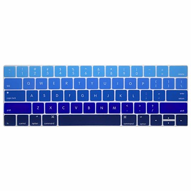 xskn® english κλίση του δέρματος πληκτρολόγιο σιλικόνης και προστάτης γραμμή αφής για το 2016 νεότερο MacBook Pro 13.3 / 15.4 με μπαρ αφής