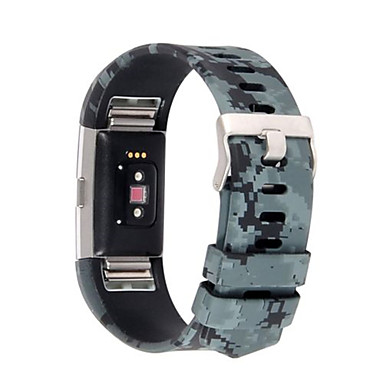 Watch Band varten Fitbit Charge 2 Fitbit Urheiluhihna Perinteinen solki Silikoni Rannehihna