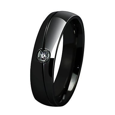 Dame Inel Personalizat Lux Design Circular Modă stil minimalist Ștras Oțel titan Diamante Artificiale Circle Shape Bijuterii Pentru