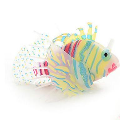 Decorațiune pentru Acvariu Pește Artificial Ne-Toxic & Fără Gust Silicon Negru Portocaliu Albastru