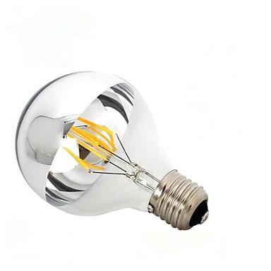 1PC 6W 600lm E26 / E27 B22 مصابيحLED G95 6 الخرز LED COB تخفيت أبيض دافئ 110-130V 220-240V
