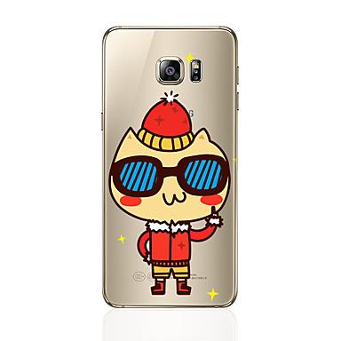 Kılıf Na Samsung Galaxy S7 edge S7 Przezroczyste Wzór Czarne etui Rysunek Miękkie TPU na S7 edge S7 S6 edge plus S6 edge S6 S5 S4
