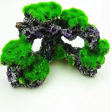 Akvaryum Dekorasyonu Ahşap Zehirsiz ve Tatsız Reçine Yeşil