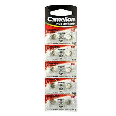 CAMELION AG3 κουμπί νομίσματος αλκαλική μπαταρία κυττάρων 1.5V 10 πακέτο