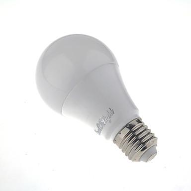 1kpl 5W 350 lm E26/E27 LED-älyvalot A60(A19) 10 ledit SMD 5730 Tunnistin Kylmä valkoinen 6000
