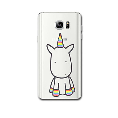 abordables Galaxy Note 4 Etuis / Couvertures-Coque Pour Samsung Galaxy Note 5 / Note 4 Ultrafine / Motif Coque Licorne Flexible TPU