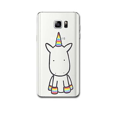 voordelige Galaxy Note 5 Hoesjes / covers-hoesje Voor Samsung Galaxy Note 5 / Note 4 Ultradun / Patroon Achterkant Eenhoorn Zacht TPU