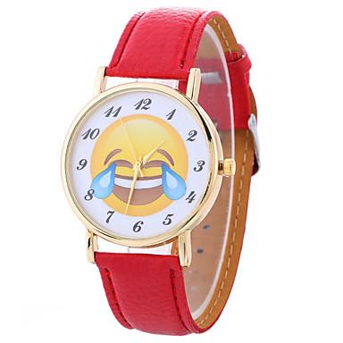 Damskie Zegarek na nadgarstek Modny Kwarcowy / Gorąca wyprzedaż PU Pasmo Kreskówka Czarny Biały Niebieski Czerwony Brązowy