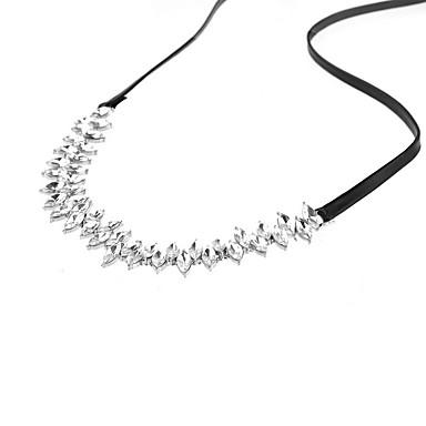 Choker-kaulakorut Nahka jäljitelmä Diamond Personoitu Eurooppalainen Muoti Euramerican Monitaso ylellisyyttä koruja Musta Korut Varten