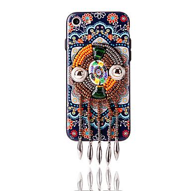 Için Taşlı Temalı Kendin-Yap Pouzdro Arka Kılıf Pouzdro Çiçek Yumuşak TPU için AppleiPhone 7 Plus iPhone 7 iPhone 6s Plus iPhone 6 Plus