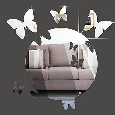 Hayvanlar Aynalar Moda Duvar Etiketler 3D Duvar Çıkartması Duvar Stikerları Dekoratif Duvar Çıkartmaları,Vinil Malzeme Ev dekorasyonu
