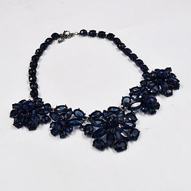 Pentru femei Altele Floare Coliere cu Pandativ Coliere  -  Floral Lux Design Unic Albastru Închis Coliere Pentru Petrecere Ocazie