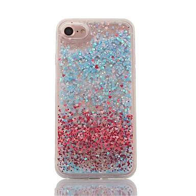 Pentru Scurgere Lichid Transparent Maska Carcasă Spate Maska Shine Glitter Greu PC pentru AppleiPhone 7 Plus iPhone 7 iPhone 6s Plus