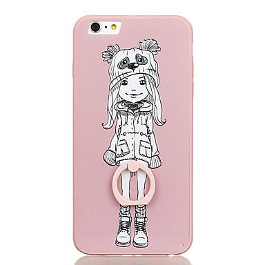 Varten Sormuksen pidike Kuvio Etui Takakuori Etui Piirros Kova PC varten Apple iPhone 6s Plus iPhone 6 Plus iPhone 6s iPhone 6