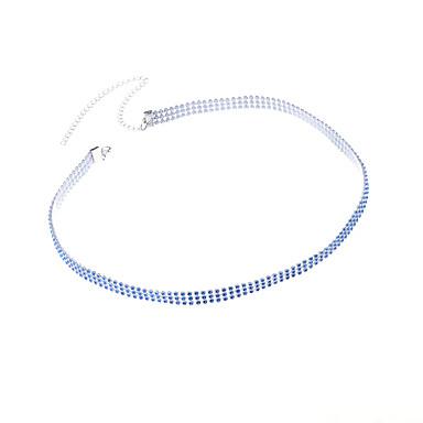 Γυναικεία Κοσμήματα Σώματος Body Αλυσίδα / κοιλιά Αλυσίδα Μοντέρνα Στρας Geometric Shape Μαύρο Μπλε Κοσμήματα ΓιαΠάρτι Ειδική Περίσταση