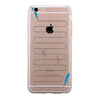 Için Şeffaf Temalı Pouzdro Arka Kılıf Pouzdro Kuş tüyü Yumuşak TPU için AppleiPhone 7 Plus iPhone 7 iPhone 6s Plus iPhone 6 Plus iPhone