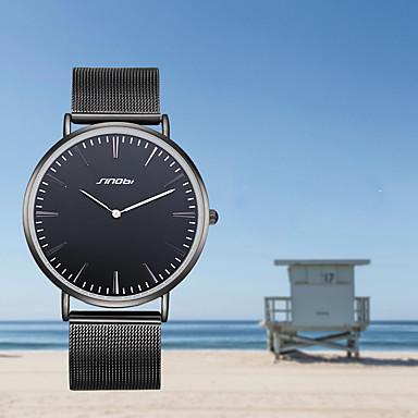 SINOBI Bărbați Quartz Ceas Elegant  Rezistent la Apă Rezistent la Șoc Aliaj Bandă Charm Lux Vintage Creative minimalist Modă Cool Negru