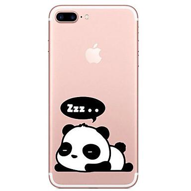 غطاء من أجل Apple iPhone X إفون 8 شفاف نموذج غطاء خلفي باندا كارتون ناعم TPU إلى iPhone X iPhone 8 Plus iPhone 8 iPhone 7 Plus iPhone 7