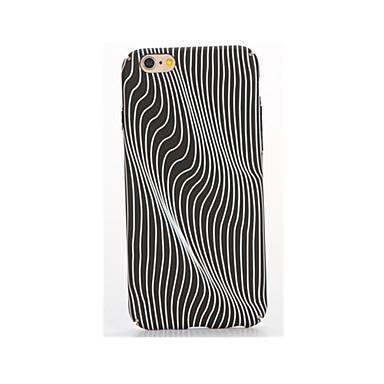 غطاء من أجل Apple يضوي ليلاً مطرز نموذج غطاء خلفي خطوط / أمواج ناعم TPU إلى فون 7 زائد فون 7 iPhone 6s Plus iPhone 6 Plus iPhone 6s أيفون