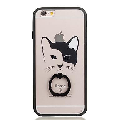 إلى حامل الخاتم شفاف نموذج غطاء غطاء خلفي غطاء قطة قاسي PC إلى Apple iPhone 6s Plus iPhone 6 Plus iPhone 6s أيفون 6