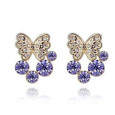 Pentru femei Cercei Stud Cristal Personalizat Design Animal Euramerican Bijuterii Pentru Nuntă Petrecere Zi de Naștere