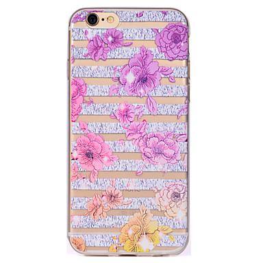 tok Για iPhone 7 Plus iPhone 7 iPhone 6s Plus iPhone 6 Plus iPhone 6s iPhone 6 iPhone 5 Apple Διαφανής Με σχέδια Πίσω Κάλυμμα Λουλούδι