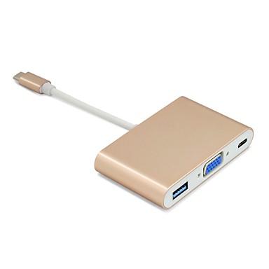 C tip USB la USB vga 3.0 pd date convertor de încărcare USB-c încărcare tip butuc adaptor c pentru macbook Chromebookului xps dell 12/13
