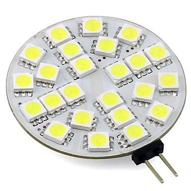 3 W 260 lm G4 LED Φώτα με 2 pin T 24 leds SMD 5050 Θερμό Λευκό Ψυχρό Λευκό DC 12V