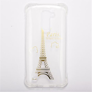 tok Για LG Ανθεκτική σε πτώσεις Διαφανής Με σχέδια Πίσω Κάλυμμα Πύργος του Άιφελ Μαλακή TPU για LG K10 LG K8 LG K7
