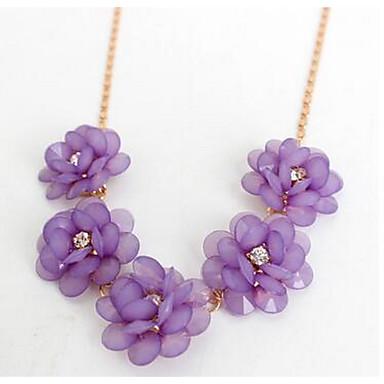 Damskie Łańcuszki na szyję Biżuteria Flower Shape Kwiatowy Kwiat Kwiaty Biżuteria Na Ślub Impreza Zaręczynowy