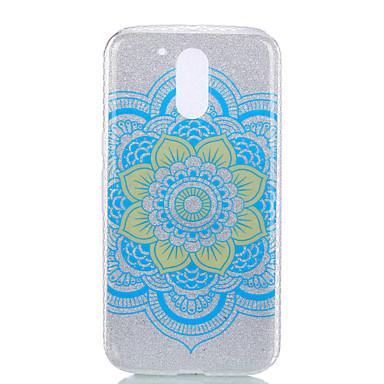 Etui Käyttötarkoitus Motorola IMD Kuvio Takakuori Mandala Lace Printing Kimmeltävä Pehmeä PC varten MOTO G4 Moto G4 Plus