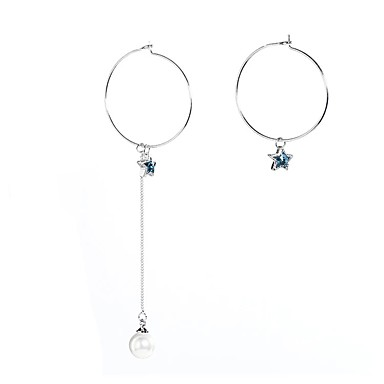 Γυναικεία Αναντιστοιχία Κρυστάλλινο Κρύσταλλο Κρεμαστά Σκουλαρίκια - Μοναδικό Κρεμαστό Κρεμαστό κόσμημα Σκούρο μπλε Σκουλαρίκια Για Γάμου