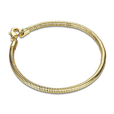 Pentru femei Fete Brățări cu Lanț & Legături Cristal Prietenie Modă Placat Auriu Tube Shape Bijuterii Cadouri de Crăciun Nuntă Petrecere