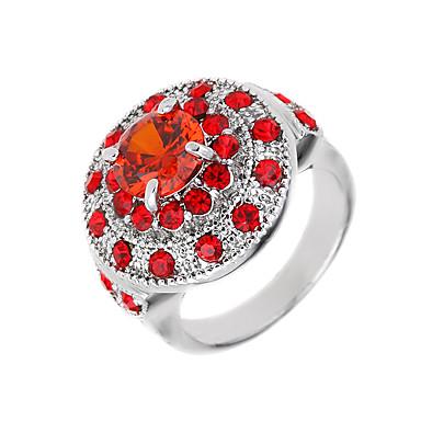 Γυναικεία Βέρες Μοναδικό Λογότυπο Φλοράλ Πανκ Στυλ Χιπ-Χοπ Euramerican κοσμήματα πολυτελείας Συνθετικοί πολύτιμοι λίθοι Ζιρκονίτης Cubic