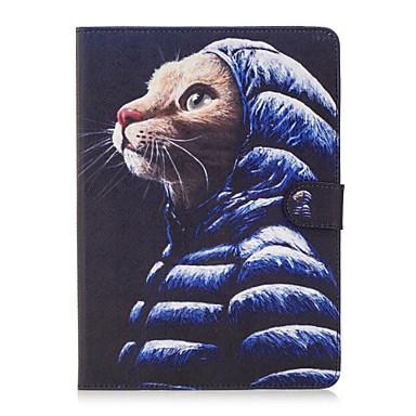 Για Θήκη καρτών Πορτοφόλι με βάση στήριξης Ανοιγόμενη Με σχέδια tok Πλήρης κάλυψη tok Γάτα Σκληρή Συνθετικό δέρμα για AppleiPad Pro 9.7