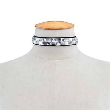 Pentru femei Pătrat Personalizat Modă Euramerican Coliere Choker Ștras Ștras Coliere Choker . Zilnic Casual