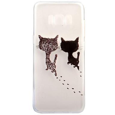 Kılıf Na Samsung Galaxy S8 Plus S8 Przezroczyste Wzór Czarne etui Kot Miękkie TPU na S8 Plus S8