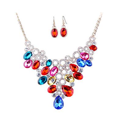 Σετ Κοσμημάτων Στρας Μοντέρνα Euramerican Δήλωση Κοσμήματα Νυφικό κοσμήματα πολυτελείας απομίμηση διαμαντιών Κράμα ΚοσμήματαΛευκό Ουράνιο