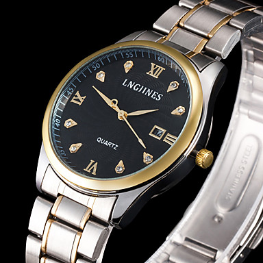 Erkek Bilek Saati Elbise Saat Moda Saat Spor Saat Quartz Büyük Kadran Alaşım Bant İhtişam Çok-Renkli