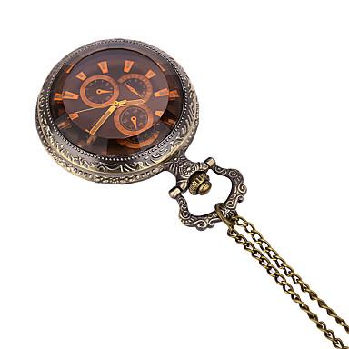 JUBAOLI للرجال ساعة جيب كوارتز / ساعة كاجوال أشابة فرقة كاجوال برونز