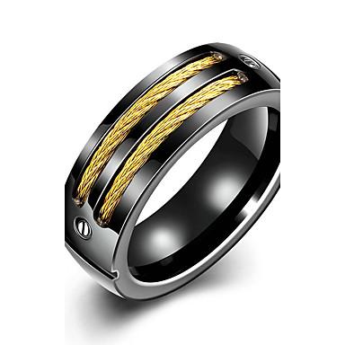 Γυναικεία Band Ring Κρυστάλλινο Μαύρο Τιτάνιο Ατσάλι Cruce Νυφικό Μοντέρνα μινιμαλιστικό στυλ Χριστουγεννιάτικα δώρα Γάμου Πάρτι Ειδική