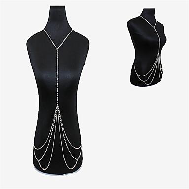 Kadın Vücut Mücevheri Vücut Zinciri / Belly Chain Doğa Moda Bohemia Stili Kristal alaşım Mücevher Uyumluluk Özel Anlar Günlük
