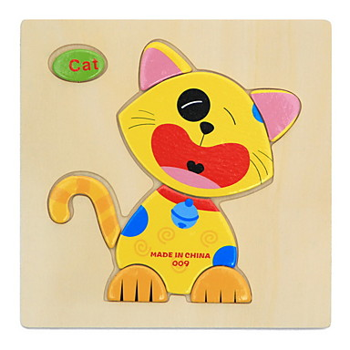 Carduri Educaționale Puzzle Puzzle Lemn Pegged puzzle-uri Jucării Educaționale Animale Reparații Distracție Clasic Desen animat Pentru